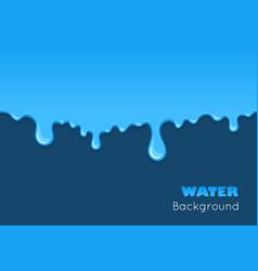 Background dribble blue liquid vector