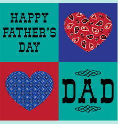 Bandana heart fathers day vector