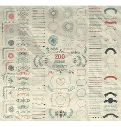 Big Set of Decorative Hand Drawn Design vector
