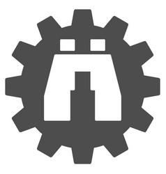 Binoculars find options icon vector