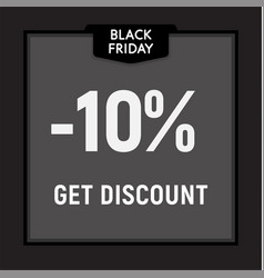 black friday sale limited offer get discount web vector image