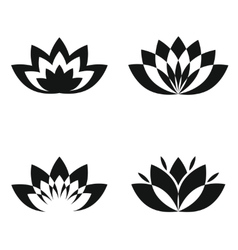 black silhouette flowers on white background vector image