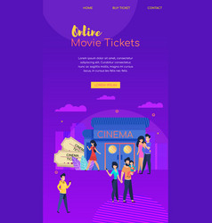Booking tickets online mobile watches premiere vector