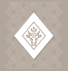 bull or buffalo or calf logo isolated on a vector image
