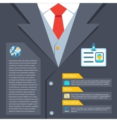Business suit summary concept vector