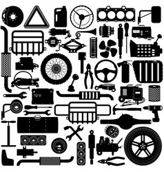 Car parts pictogram vector