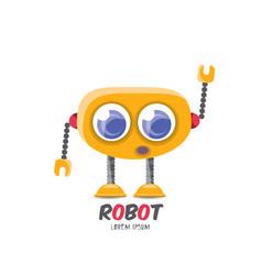 cartoon cute flat robot icon vector image