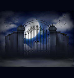 Cemetery gate background vector