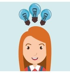 child student idea icon vector image
