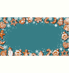 christmas or new year background with homemade vector image