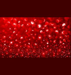 Christmas Red bokeh effect vector image