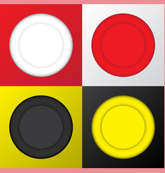circle banner with copy space white red black vector image
