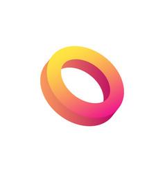 Circle realistic icon vector