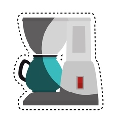 Coffee machine kitchen appliance isolated icon vector