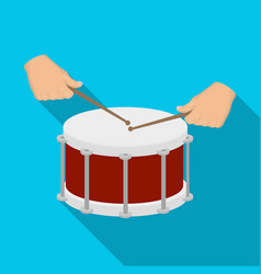 Drum percussion musical instrument drum shot vector