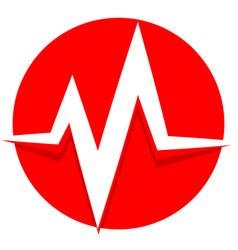 Ecg ekg line pulse beat heartbeat icon vector