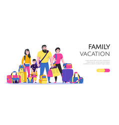 family vacation banner vector image