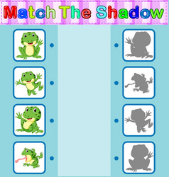 find the correct shadow of the frog vector image