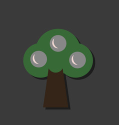 Flat icon design collection ecological tree in vector