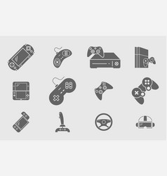 Gamepad-game-console-05 vector
