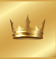 golden crown isolated background vector image