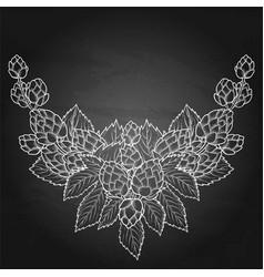 graphic hop vignette vector image