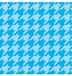 Houndstooth tile blue pattern or background vector