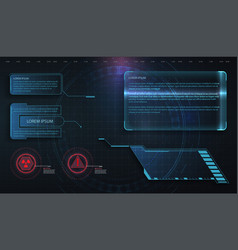 hud ui gui futuristic frame user interface vector image