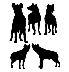 Hyena animal silhouette vector