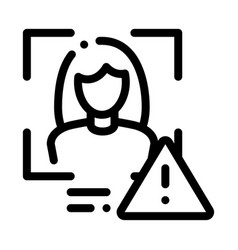 Identity alert woman icon outline vector