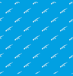Kalashnikov machine pattern seamless blue vector