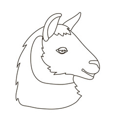 lama icon in outline style isolated on white vector image