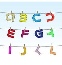 Letters on clothesline vector image