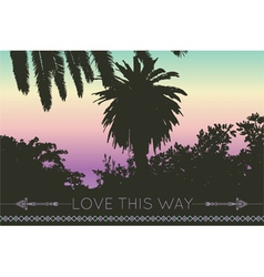 Love this way geometric backgrounds palm tree vector