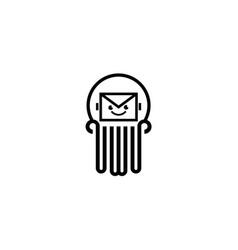 Mail logo template vector