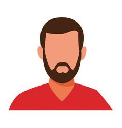 Man portrait faceless vector