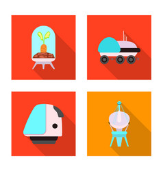 mars and space logo set of vector image