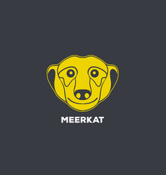meerkat logo icon design vector image