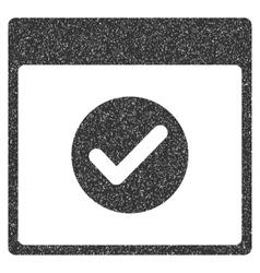 Ok calendar day grainy texture icon vector