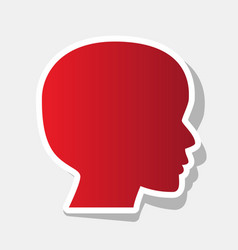 people head sign new year reddish icon vector image
