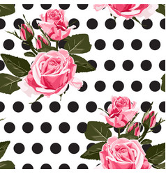 pink roses floral seamless pattern texture vector image