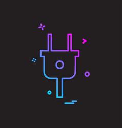 plugs icon design vector image