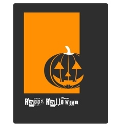 Poster banner card or background for Halloween vector