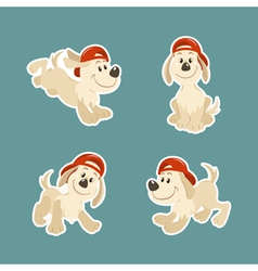 Puppy dog character design set vector
