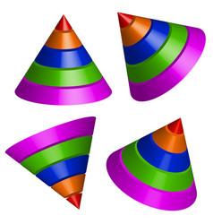 Pyramidal shapes render vector