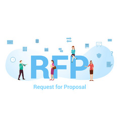 Rfp request for proposal concept with big word or vector