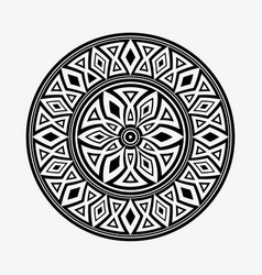 round ornament shapes isolated on light gray vector image