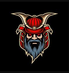samurai mascot logo esport vector image