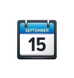 September 15 Calendar icon vector