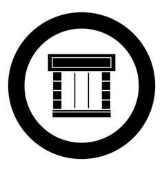 shopfront icon black color in circle vector image